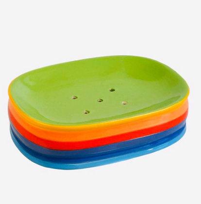 Rainbow ceramic soapdish