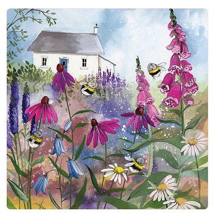 Bee Garden - Alex Clark Fridge Magnet