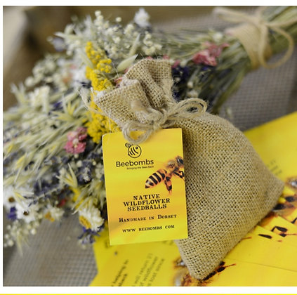 BeeBombs in hessian gift bag