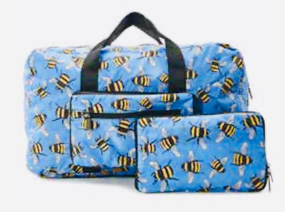 Eco Chic - Blue Bumble Bee Foldable Holdall