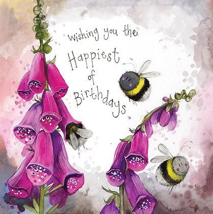 Sunshine Bees Birthday Card