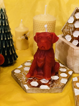 100% Beeswax Candles - Little Pooch