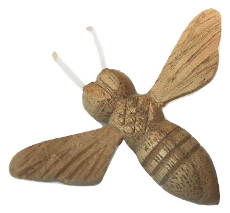 Carved Wooden Bee