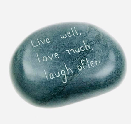 Paperweight, palewa stone, Live well, love much