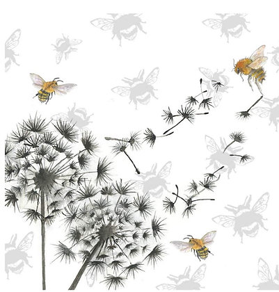 Dandelion Clock - Bee-tannicals Greeting Card by Sarah Boddy