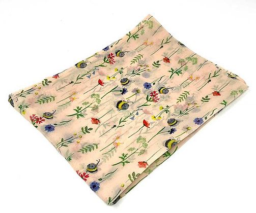 Bee & Flowers Square Scarf by Alex Clark