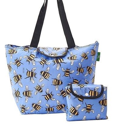 Eco Chic - Large Blue Bumble Cool Bag