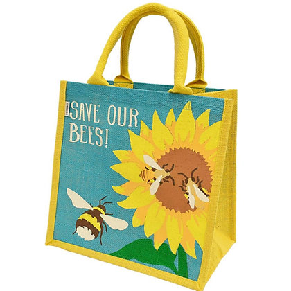 Jute Sunflower Bees 'Save Our Bees' Bag