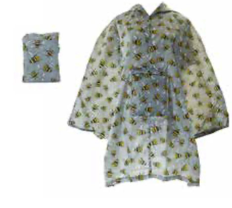 Eco Chic - Large Adult Grey Bee Poncho