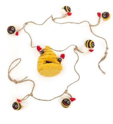 Christmas Fabulous Felt Bumble Bee Garland
