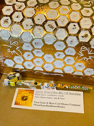 Grow Your Own Ray of Sunshine - Sunflower Seeds & Bee Pencil Pack