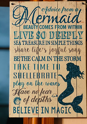 Mermaid Plaque