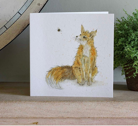 Mr Fox - Bee-tannicals Greeting Card by Sarah Boddy