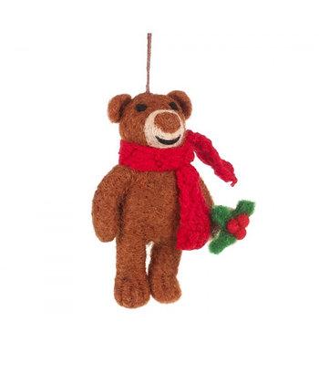 FeltSoGood - Christmas Brown Bear with Scarf