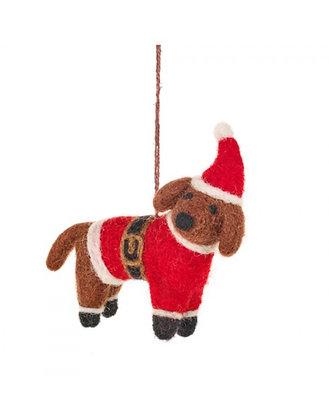 FeltSoGood -Buddy the Festive Dog
