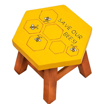 Children's wooden stool - Save Our Bees