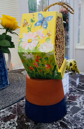 Custom Painted!! Bee/Bug House - Save Our Bees