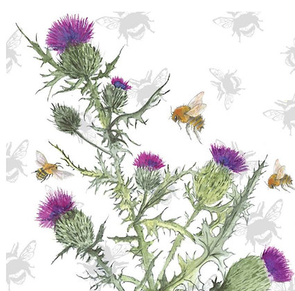 Thistle - Bee-tannicals Greeting Card by Sarah Boddy