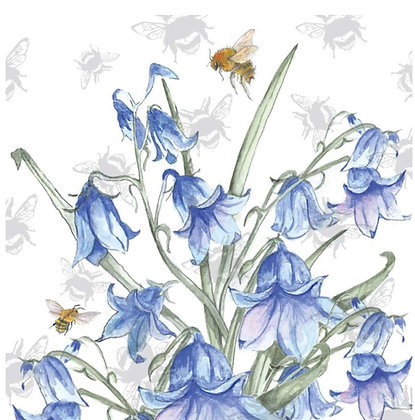 Bluebell - Bee-tannicals Greeting Card by Sarah Boddy