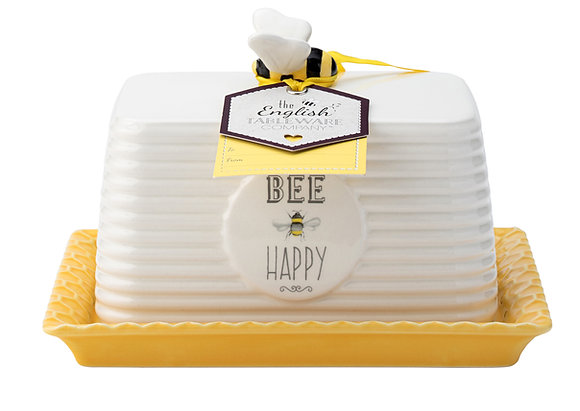 Bee Happy - Large Butter Dish