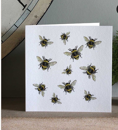 Busy Bees Greeting Card by Sarah Boddy