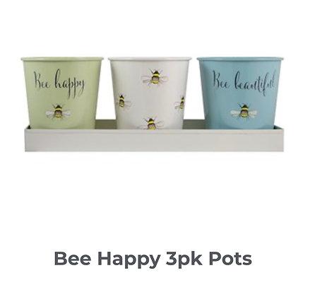 3 pack of Bee Happy Pots