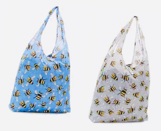Eco Chic - Blue Bumble Bee Foldaway Shopper