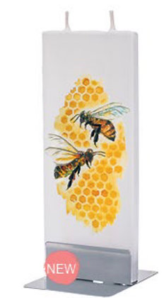 HoneyBees on Comb - Flatyz Candle