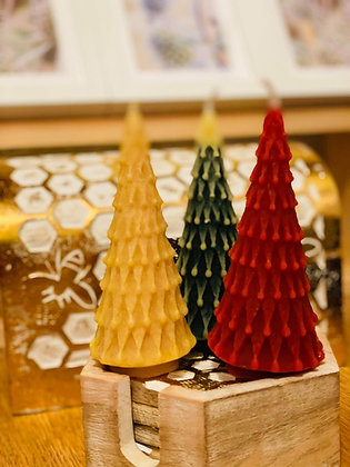 100% Beeswax Candles - Christmas Tree