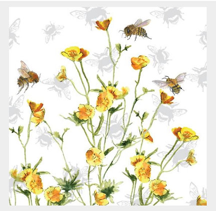 Buttercup - Bee-tannicals Greeting Card by Sarah Boddy