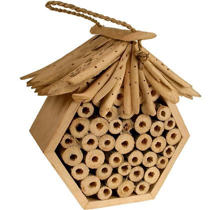 Hexagonal Bee/Bug House - Driftwood Roof & Sides