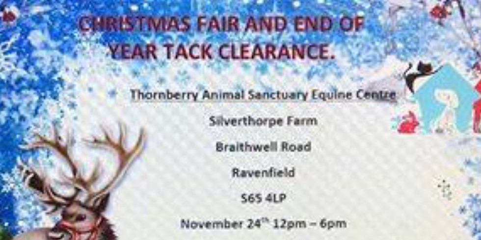 Thornberry Equine xmas fair & end of tack sale - Rotherham
