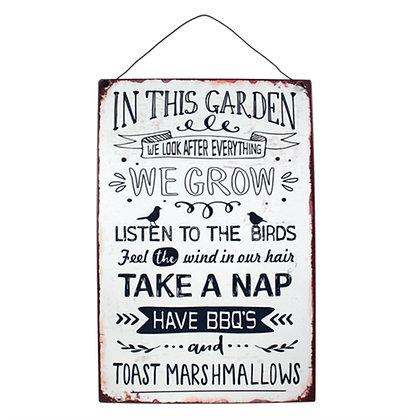 In the Garden Plaque