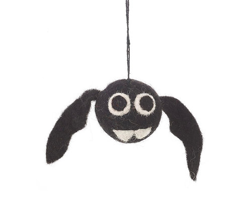 Handmade felt Bat Bauble Halloween Hanging Decoration
