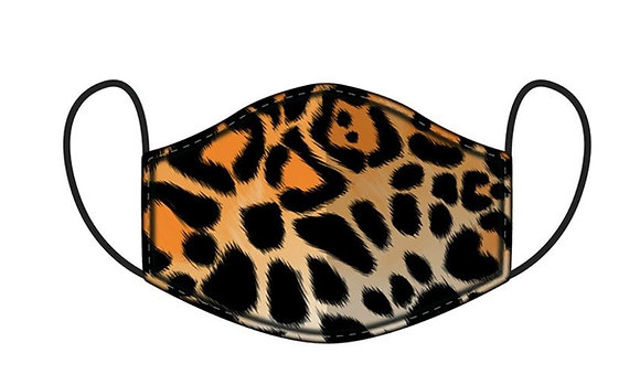 Decorative Funky Face Mask - Animal Print - Large