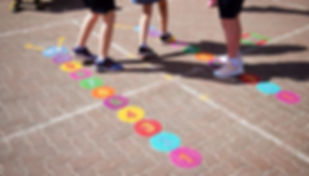 outdoor class room playground markings