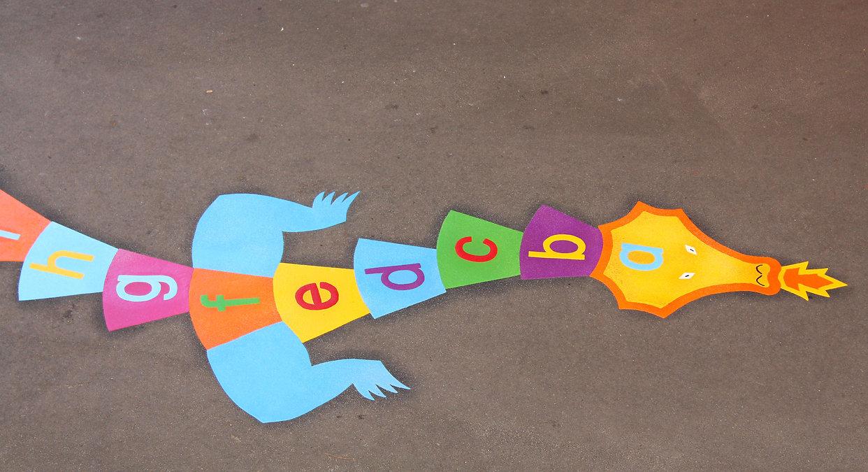 colourful fun playground markings