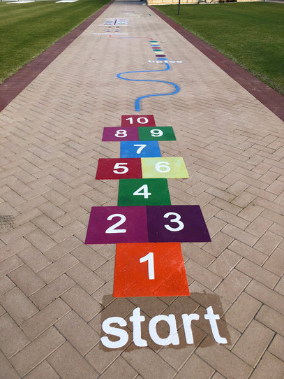 hopscotch with fitness track