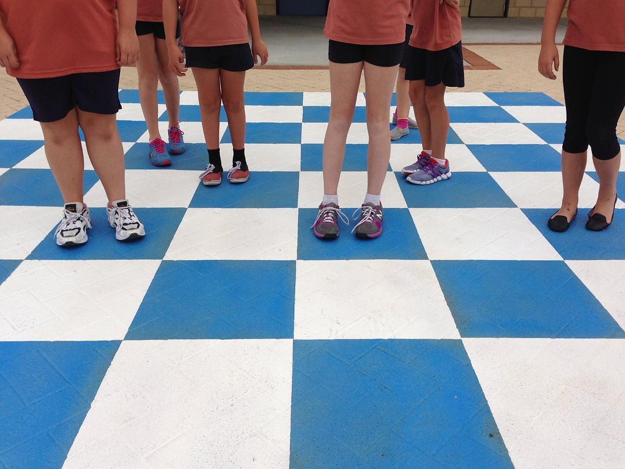 playground chessboard markings
