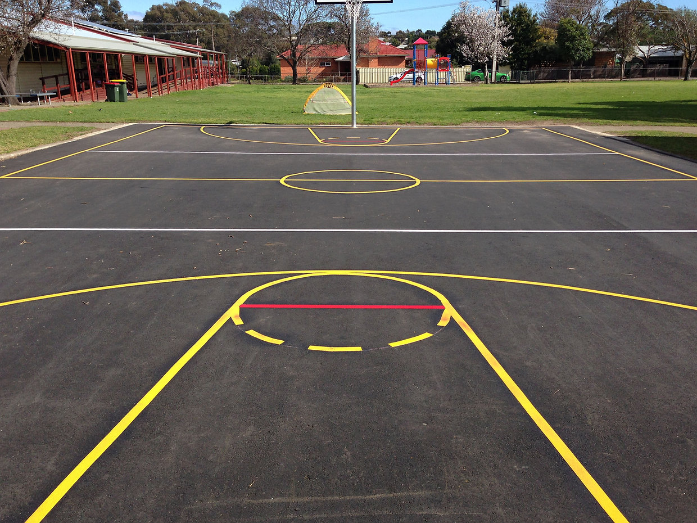 basket ball court markings