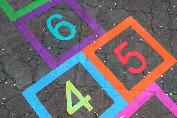 boarder hopscotch playground markings