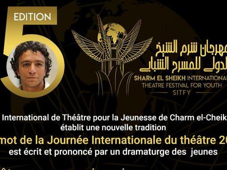 SITFY établit une nouvelle tradition - Le mot de la Journée Internationale du théâtre 2020