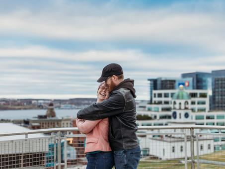Shannon & Lenny's Halifax Citadel Couple Session