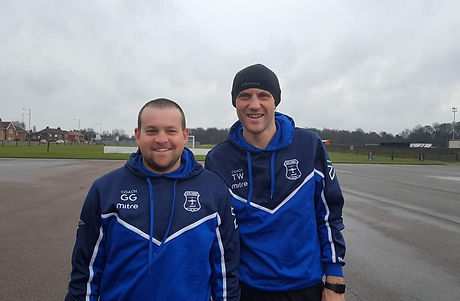 Blyth Bombers U8's Coaches - Dave and Colin