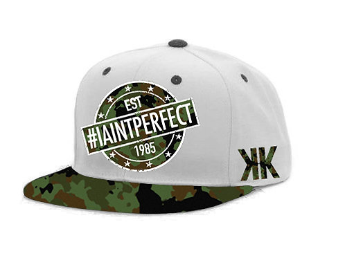 "WHITE ""I AINT PERFECT"" SNAP BACK (1 SIZE)"