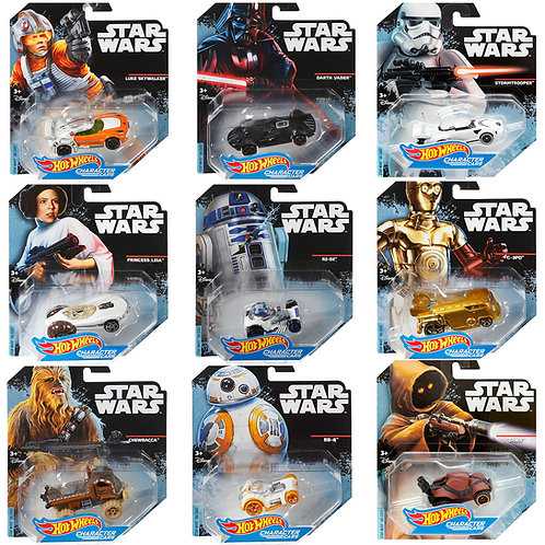 STAR WARS - CHARACTER CARS COLLECTION (9 Pack)