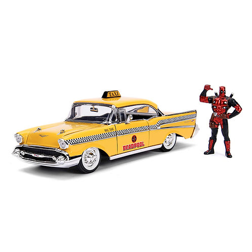 Deadpool & 1957 Chevrolet Bel Air Taxi