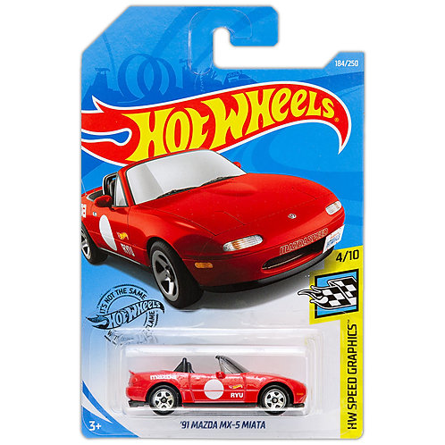 HW SPEED GRAPHICS - '91 Mazda MX-5 Miata (rojo)
