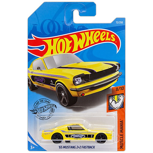 MUSCLE MANIA - '65 Mustang 2+2 Fastback (amarillo)