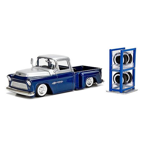1955 Chevy Stepside w/ Extra Wheels (Chevrolet Trucks 100th Anniversary)